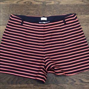 Striped J. Crew Shorts